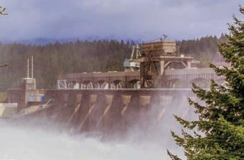 Photograph of a dam