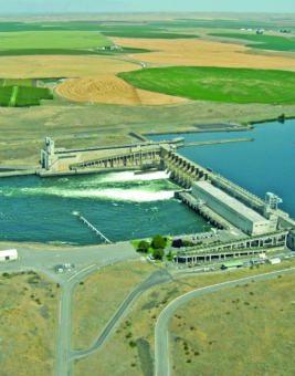 Aerial View of Bonneville Dam