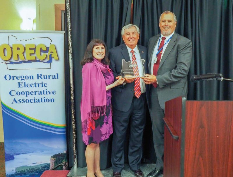 ORECA President Dave Schneider, right, presented former Rep. Gene Whisnant and his wife, Josie, with the ORECA Lifetime Achievement Award.