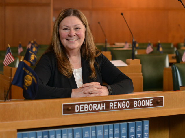 "West Oregon Electric Director Robert VanNatta on Rep. Deborah Boone: ""One of the things I appreciate about Debbie is that she recognizes that not every legislative idea will function as represented."" Photos by Lynn Howlett"